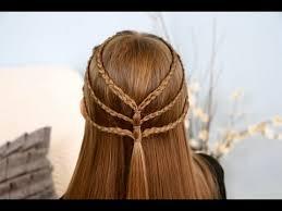 triple braided tieback cute girls hairstyles makeup videos