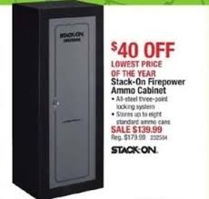 stack on ammo cabinet stack on firepower ammo cabinet 139 99 at cabelas on black friday