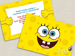 invitation idea sponge bob theme pinterest invitation ideas