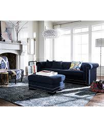 ashbe fabric storage ottoman w nailheads furniture macy u0027s