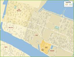 New Orleans French Quarter Map by Street Map Of New Orleans Usa My Blog