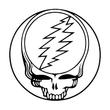 grateful dead steal your face rub on sticker black