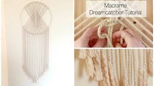 Macrame Home Decor by How To Make A Macrame Wall Hanging Dreamcatcher Tutorial Youtube