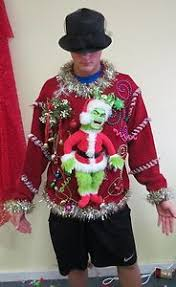 Ugly Christmas Sweater Party Poem - grinch me hysterical light up ugly christmas sweater party footed