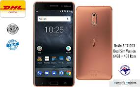 Home 4g by Nokia 6 Ta 1003 Copper 64gb 4gb Ram Dual Sim 4g Lte Brand New