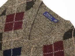 abjnuts rakuten global market ralph s argyle knit