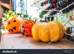 background halloween image halloween background halloween decorations coffee shop stock photo