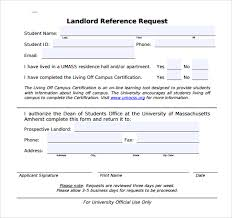 sample landlord reference template 9 free documents in pdf word