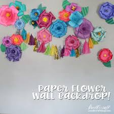 Make Your Own Paper Flowers - doodlecraft diy paper flower wall backdrop