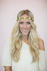 bohemian hair accessories flower crown women elastic headband tiaras and crowns hair