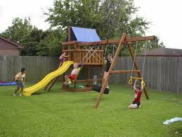 Backyard Swing Plans by How To Build Diy Wood Fort And Swing Set Plans From Jack U0027s