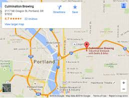 Troutdale Oregon Map by Culmination Brewing Portland Oregon