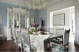 blue and white dining room home design ideas
