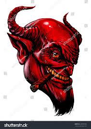 halloween supernatural background devil head cigar demon satan halloween stock illustration