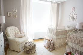 Baby Room Ideas White Gray Pink Pink Ivory And Grey Twin Girls Nursery Project Nursery