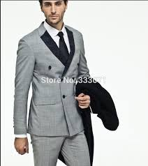 mens light gray 3 piece suit click to buy custom 3 pieces side vent light grey suit groom