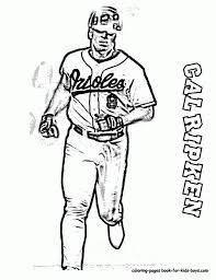 free coloring page baseball