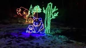 Zoo Lights Oregon by Portland Zoo Lights Train Ride 2015 2x Speed Youtube