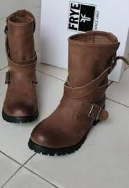 ladies brown biker boots frye veronica shortie perfect for wide calves you can join the