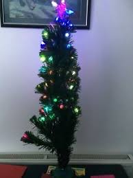 3 foot christmas tree with lights 3 foot fibre optic lead berry christmas tree ebay