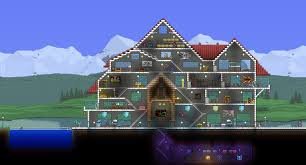 house project hello this is my 1st ever big house project in terraria and 1st