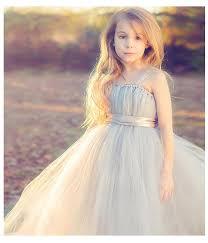 Flower Girl Dress Purple Elegant Cute Small Girl Princess Gown For