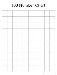 printable hundreds chart free printable blank 100 chart blank 100 chart template hundreds chart