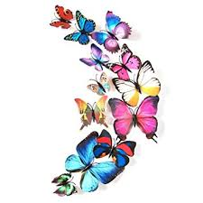 Amazon Blue 24PCS 3D Butterfly Wall Stickers Decor Art