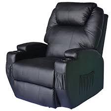 homcom pu leather rocking sofa chair recliner amazon com homcom pu leather heated vibrating 360 degree swivel