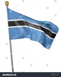 Botswana Flag National Flag Country Botswana Isolated On Stock Illustration