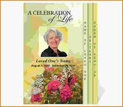 Free Funeral Programs 11 Free Funeral Program Templates Authorizationletters Org