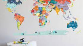world map with country names contemporary wall decal sticker world map with country names contemporary wall decal sticker