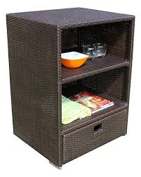 Outdoor Storage Cabinets With Shelves Amazon Com Sunjoy Wicker Outdoor Storage Cabinet Garden U0026 Outdoor