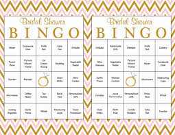 60 bridal bingo cards blank u0026 60 prefilled cards printable