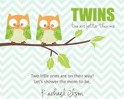 twins baby shower invitations boys owls diy printable