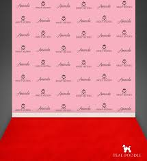 personalized photo backdrop custom sweet 16 quinceañera step and repeat backdrops for