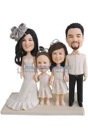 family cake toppers wedding cake topper