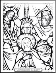 saint mary coloring coronation mary
