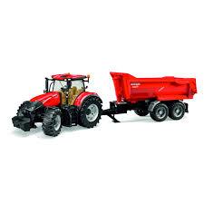 bruder toys logo bruder case ih optum 300 cvx with krampe tandem half pipe trailer