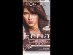 hair color for 45 feria hair color 45 deep bronzed brown youtube