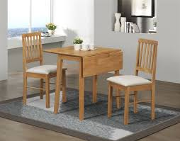 table and 2 chairs set birlea rubberwood small drop leaf dining table and 2 chairs set in