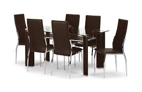 julian bowen boston dining table set with 6 chairs brown amazon