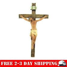catholic wall crucifix catholic 8 inch resin jesus on inri cross wall