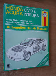 honda civic u0026 acura integra automotive repair manual haynes