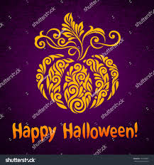 happy halloween background vector happy halloween background ornate pumpkin stock vector