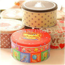 free shipping 6pc handmade cookies biscuit tin storage box