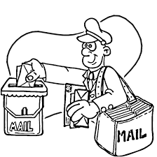 mailman hat coloring page mail coloring page image clipart images grig3 org