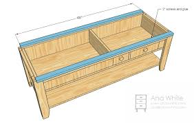 Woodworking Plans Display Coffee Table by Ana White Wooden Train Table Coffee Table Diy Projects