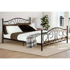 queen size bed frame scroll bronze iron bedroom furniture