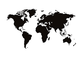 Lithuania World Map by World Map Poster Black And White Posters With Maps